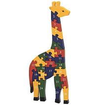 Bits and Pieces - Wooden Alphabet Giraffe Puzzle - Learn ABCs and 123s -... - $14.84