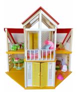 Vintage 1978 Mattel Barbie Dream House A Frame Yellow 1970's w/ Furnitur... - $444.51