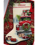 Dimensions Santas Truck Farm House Christmas Cross Stitch Stocking Kit 0... - $39.95