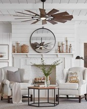 "72"" Windmill Prairie Ceiling Fan & Light Indoor Outdoor Farmhouse Grand - $889.02"
