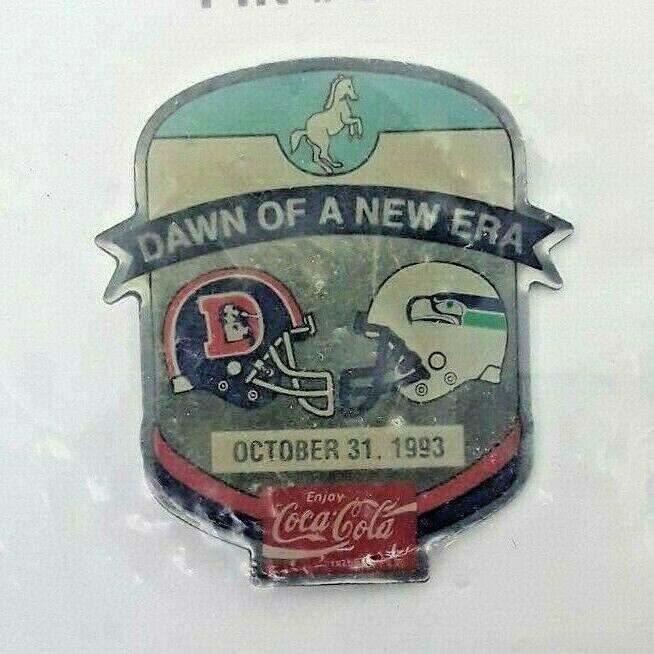 Classic 1993 NFL Football Lapel Hat Pin - Denver Broncos vs Seattle Seahawks image 2