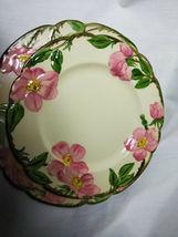 Vintage Franciscan China Desert Rose 4 piece plate set 3 size plates and 1 bowl image 6