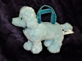 GYMBOREE Poodle Purse My Best Friend blue 2004 plush zip top velvet hand... - $19.79