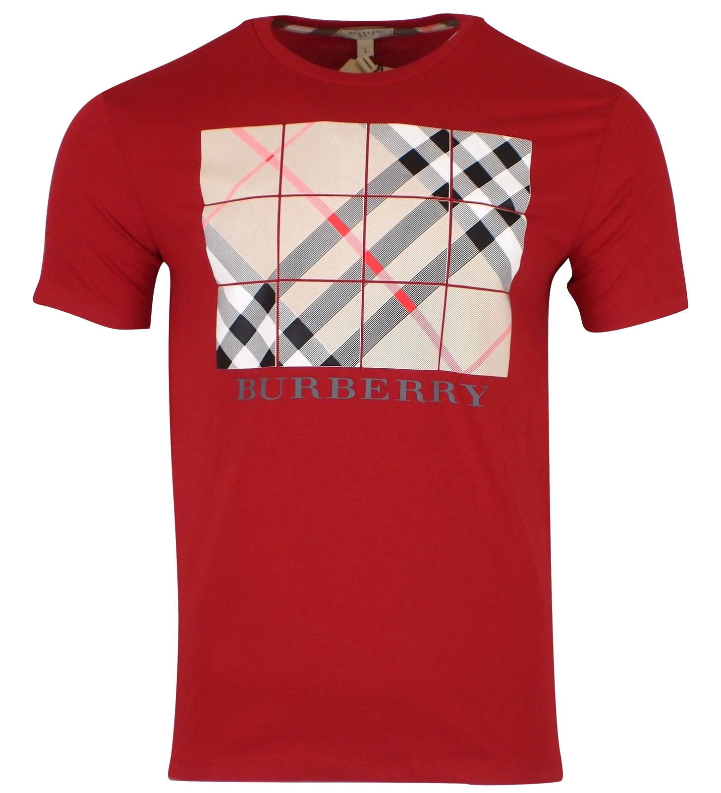 dc145b0428f63 B4 red1. B4 red1. Previous. New BURBERRY Brit Men's Short Sleeve Cotton  Graphic T-Shirt - RED - Large