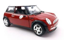 Maisto Mini Cooper Car - Red / White - 1:18 Scale - $17.24