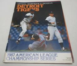 1987 American League Championship Series Detroit Tigers Official Program - $14.73