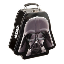 Star Wars Darth Vader Mask Embossed Tin Tote Lunchbox, NEW UNUSED - $11.64