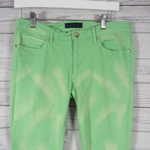 Juicy Couture Womens Jeans Size 30 Green Bleach Wash Pants image 2