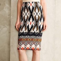 Maeve Anthropologie Iguazu Ikat Print Aztec Tribal Ethnic Pencil Skirt S - $45.59