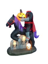 6.7 Foot Tall Halloween Inflatable Headless Horse with Pumpkin Yard Deco... - $164.23 CAD