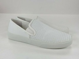 Vince Camuto Women's Cariana White Leather Slip-on Sneaker Size 7.5 Wide - $39.60