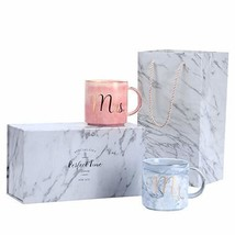 Luspan Mr and Mrs Coffee Mugs Set - Valentine's Day Gifts - Wedding and ... - $35.89