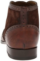 Handmade Men's Brown Leather and Suede Wing Tip Brogues Chukka Boots image 3