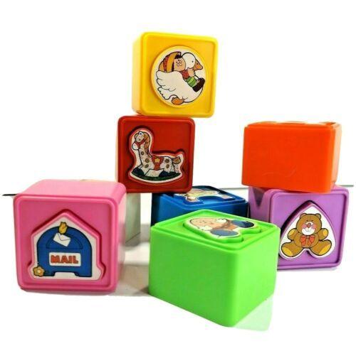 Playskool Matchups Matching Puzzle Cubes Vintage 1987 Developmental Toy Rare  - $25.33
