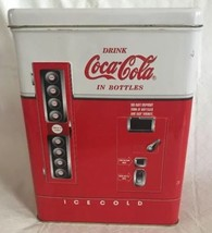 Great 1997 Advertising Tin From Coca Cola - Bottle Dispensing Machine - $14.99