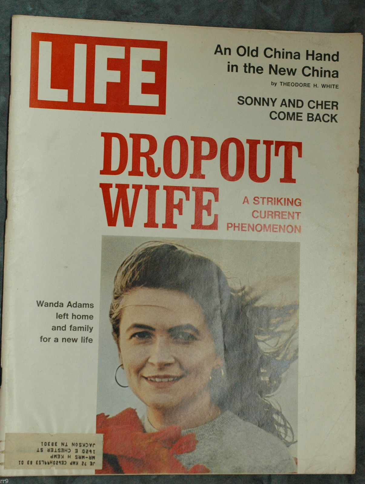 Primary image for Life Magazine March 17, 1972 Dropout Wife/ Sonny and Cher/ An Old China
