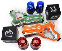 Laser Tag Gun Set Glow In The Dark Party Flag Capture Night Game Christm... - $192.96