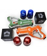 Laser Tag Gun Set Glow In The Dark Party Flag Capture Night Game Christm... - €163,58 EUR