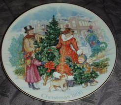 Vintage 1990 AVON Christmas Plate with 22K Gold Trim Bringing Christmas ... - $7.98