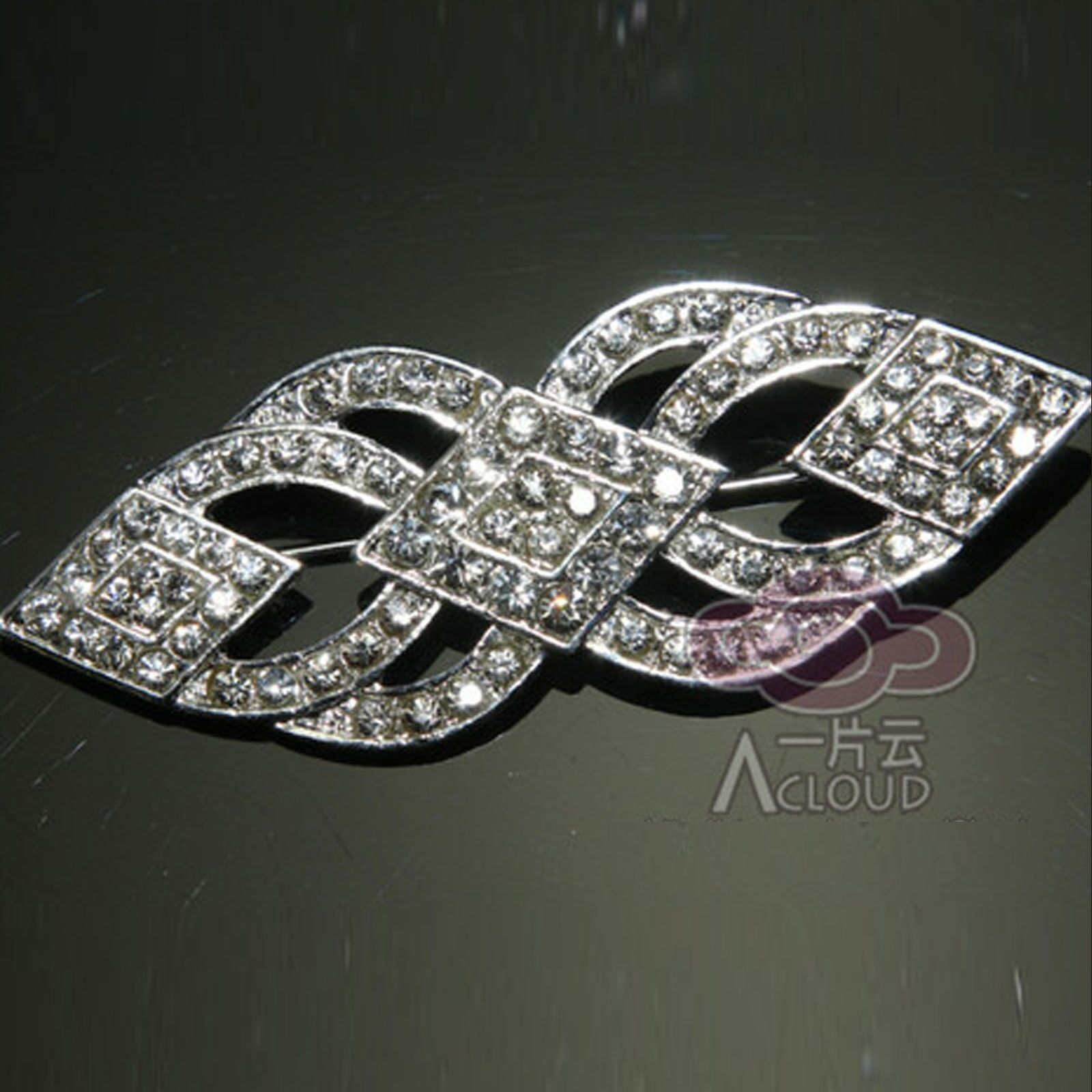 Primary image for Wedding Sash Belt Rhinestone Crystal Brooch Pin Vintage Style Jewelry
