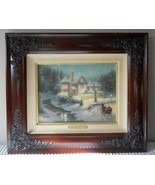 Thomas Kinkade Moonlit Sleigh Ride S/N Canvas Limited Art Edition Christmas - $589.05