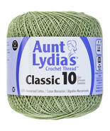 Aunt Lydia's Classic Crochet Thread Size 10-Frosty Green, Set Of 3 - $20.06