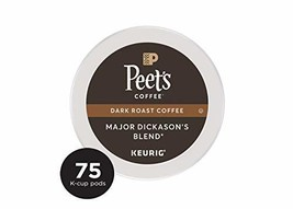 Peet's Coffee Major Dickason's Blend Dark Roast Coffee K-Cup Coffee Pods 75 Coun - $45.18