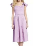 Antonio Melani Madison Sateen Belted A-Line Midi Dress Lilac Tulip Size ... - £27.86 GBP