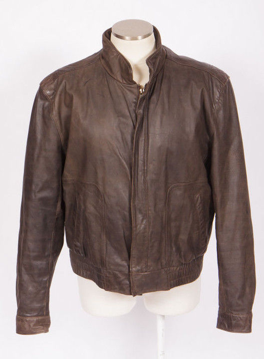 f5a772a61 Vtg 90s REED Brown Leather Bomber Jacket w/ and 50 similar items