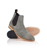 Handmade Men Suede Chelsea boots, Men Gray color ankle boots, Ankle boot... - $179.99