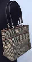 LRL Ralph Lauren Classic Houndstooth Windowpane w Leather Trim Shoulder ... - $43.53