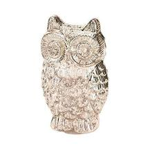Accent Plus Small Figurines Decor, Quilted Owl Glass Collectibles Display Figuri - $25.99