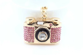 Pink Camera Fashion Keychain Crystal Charm Cute Gift Purse Decor #MCK11 - $18.17