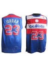 Michael Jordan #23 Throwback Jersey Washington Bullets XL Length +2 New ... - $59.40