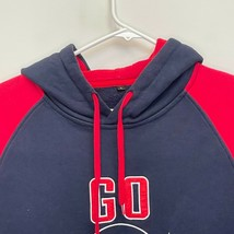 New England Patriots Men's Pullover Hoodie Blue Red Embroidered Large - $32.64