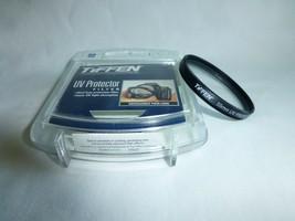 Genuine Tiffen 55mm UV Protector Black Rim Filter Made In USA Used Bin#-... - $5.86