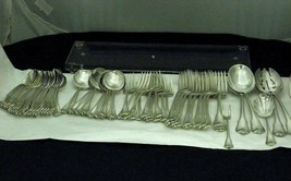 Wallace Flatware Grand Colonial Pattern in Sterling Silver Cr. 1942  67 Pc - $3,985.73