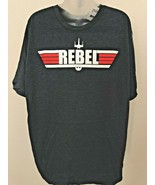 NWT! Mens sz XL STAR WARS Rebel Maverick Blue Heather T shirt - $19.79