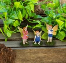 "Fairy Figurines, set of 3, Fairy Garden Decor, Fairies Craft, Plastic 1-1.5"" image 2"