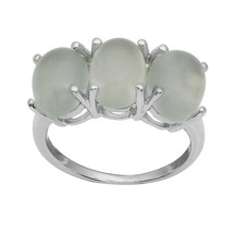 925 Sterling Silver 10.29 Ctw Prehnite Gemstone Women Stackable Ring Thr... - $33.90
