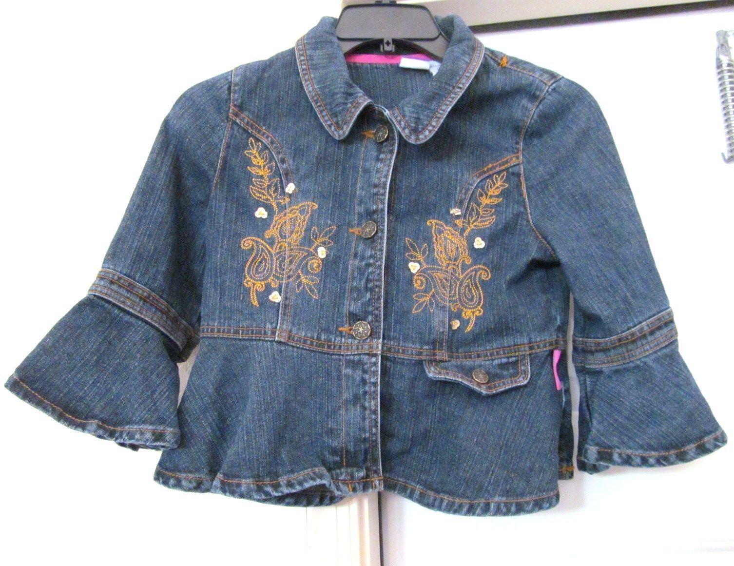 U Polo Assn S Salmon Pink Denim Girl's Long Sleeve Jacket 12 Months Cute 12m