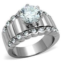 Women Stainless Steel Cubic Zirconia Rings TK1524 - $38.45