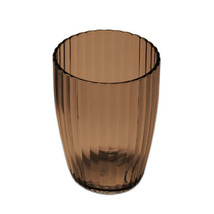 Ribbed Acrylic Bath Accessory Tumbler - Brown - $9.99