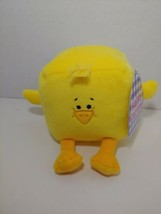 Commonwealth yellow Plush duck chick square cube box Easter stuffed animal - $3.95