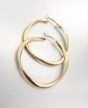 FABULOUS Urban Anthropologie Burnished Gold Metal Organic Round Hoop Earrings - $12.99