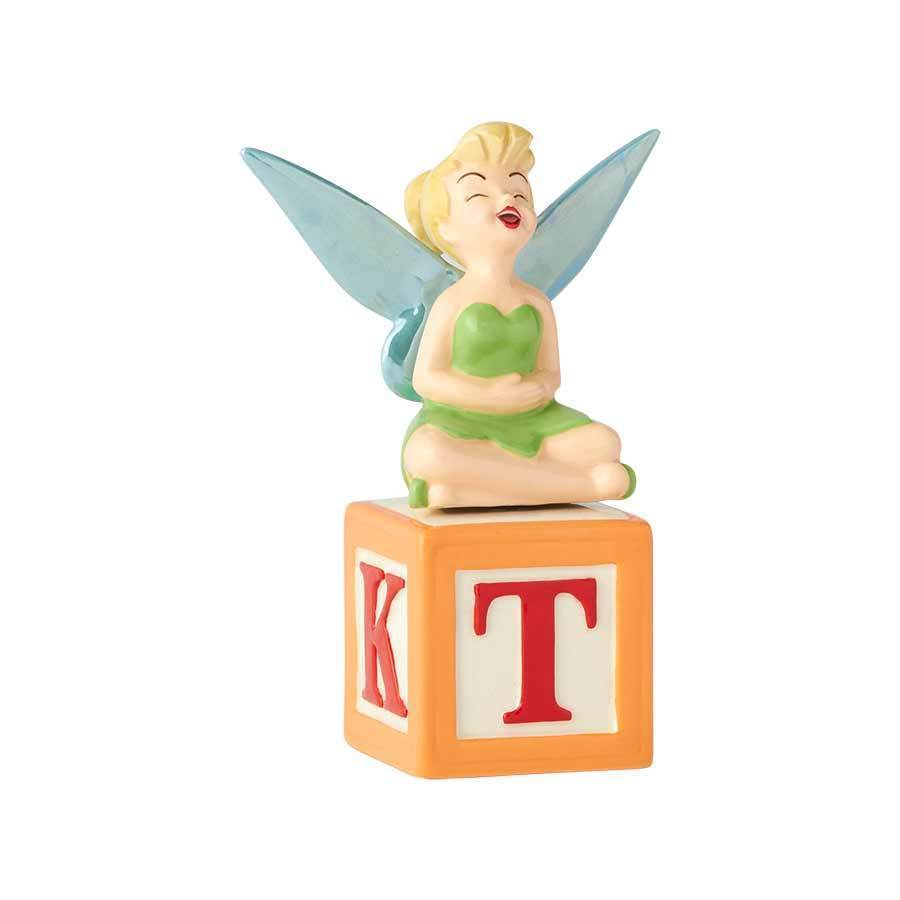 Walt Disney Tinker Bell Laughing Ceramic Salt and Pepper Shakers Set NEW UNUSED