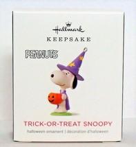 2018 Hallmark Peanuts Trick or Treat Snoopy Miniature Halloween Ornament... - $11.90