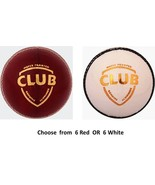 SG Club Balls Choose from 6 Red / 6 White Cricket Ball - $104.74