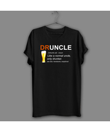 Inspired Druncle Beer Black T-Shirt Like A Normal Uncle Navy Shirt Humor... - $17.99