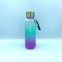 New Limited Edition Starbucks 2021 Summer Teal Purple Glass Water Bottle... - $56.99